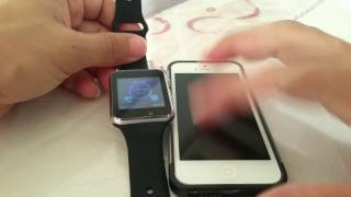 How to connect Fake Apple Watch to Iphone 5 (A1 Smartwatch)