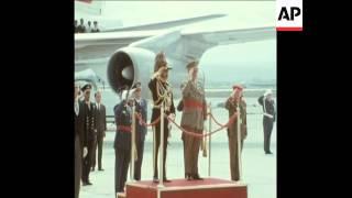 EMPEROR HAILE SELASSIE OF ETHIOPIA ARRIVES IN MADRID