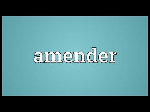 Header of Amender