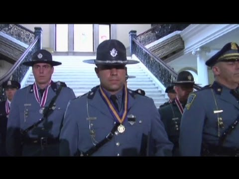 Police honored for courage in Chicopee gun battle