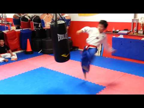Taekwondo Heavy Bag Drills Image 1