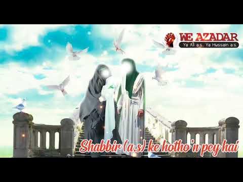 Midhat e Bibi Sakina (s.a) | Status 2020 | Bibi Sakina (s.a) Status | Farhan Ali Waris 2020