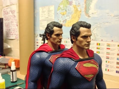 Man of Steel Hot Toys Superman Mod Tutorial - Heat Vision Headsculpt, Tony Mei Cape + Collar