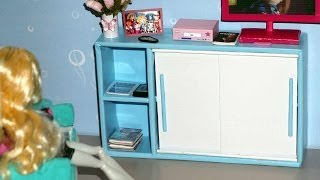 How to make a Sliding Door Cabinet for doll (Monster High, Barbie, etc)