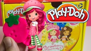 Play Doh Strawberry Shortcake playset toy playdo Tarta de fresa plastilina by Unboxingsurpriseegg