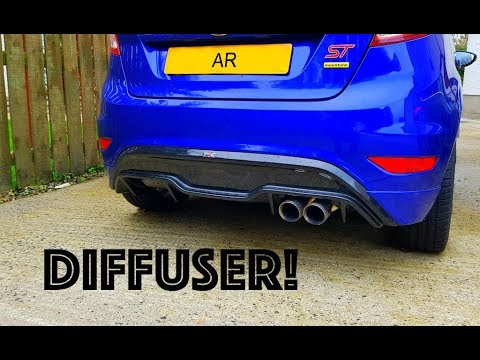 Fiesta St Rear Diffuser Install Triple R Composites Youtube