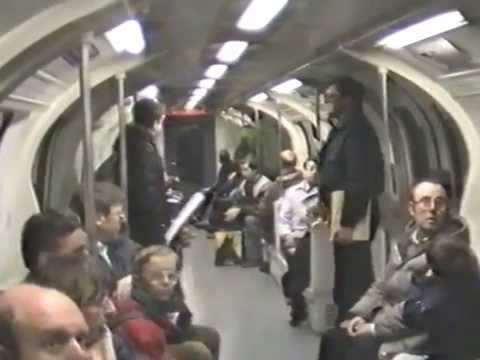 1986 prototype Tube Stock ride to Aldwych, London