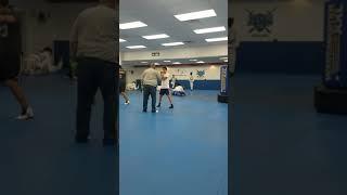 Leo boxing practice