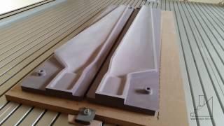 Frezare CNC semimatrite pala elice turbina eoliana