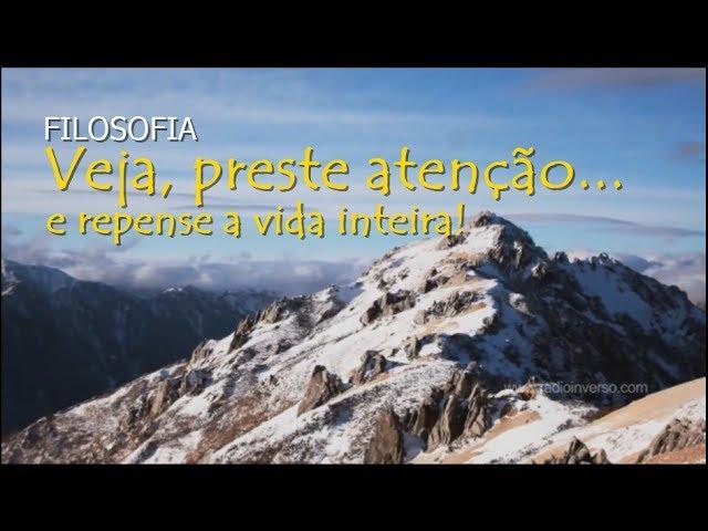 Filosofia: Veja, preste atenção e repense a vida inteira - Flavio Siqueira