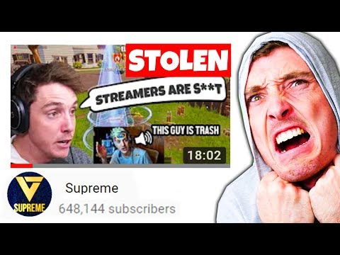 This YouTuber STOLE MY VIDEOS thumbnail