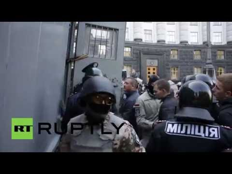 Ukraine: Protesters ARRESTED after Kiev parliament clashes