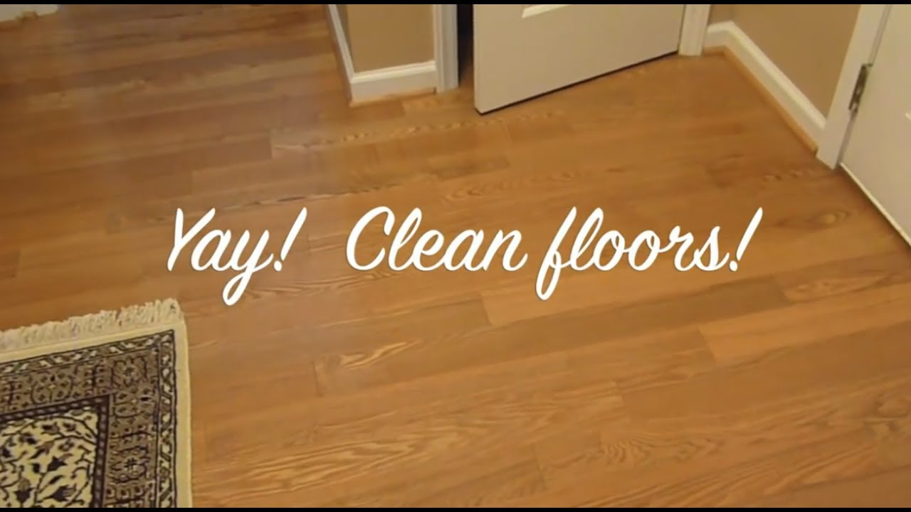 Natural Floor Cleaner: How to clean laminate floors - YouTube