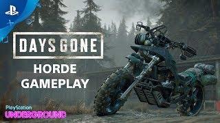 Days Gone - Horde Gameplay | PlayStation Underground