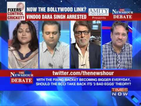 The Newshour Debate: Will Bollywood Links, How Big Can The Ipl Scandal Get? (part 4 Of 4) video