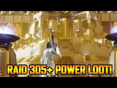 DESTINY 2 - RAID LEVEL 305 POWER LOOT RUN! (Destiny 2 Weekly Reset Grind)