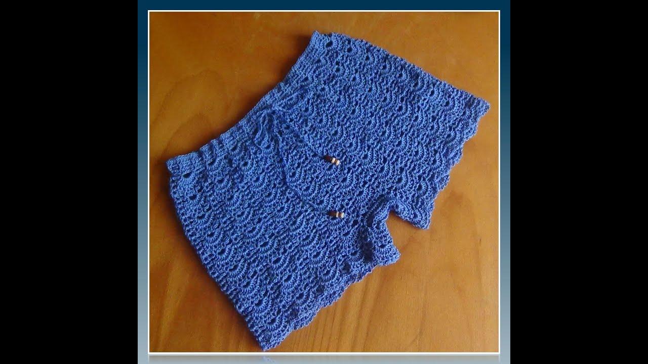 Вязание крючком шорты для девочки 2 года
