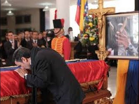 A Kiss on The Coffin of Hugo Chavez from Iranian Leader Mahmoud Ahmadinejad (A hadra for Hugo)