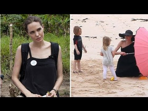 Angelina Jolie Mixes UN Work in Ecuador With Family Beach Day at Galapagos Islands