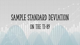 127 mb lagu sample standard deviation on the ti89 gratis download sample standard deviation on the ti89 ccuart Choice Image