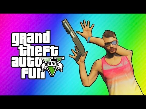 GTA 5 Online Funny Moments – Imaginary Posters & Animation Glitch! (Action Freeze Glitch)