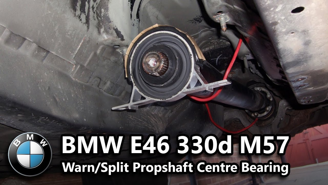 Bmw E46 330d Centre Propshaft Bearing Warn Youtube