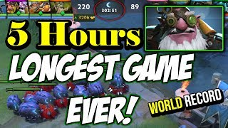 5 HOURS!!! LONGEST GAME EVER OF DOTA 2 - SNIPER 105KILLS WITH 663K DAMAGE | NEW WORLD RECORD