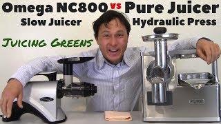 Omega NC800 vs Pure Hydraulic Press Juicer Comparison Review