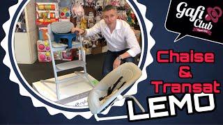Présentation chaise évolutive LEMO et son transat de chez Cybex