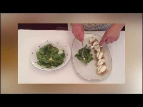 Receta - Montaditos de Solomillo con Manzana y Salsa de Queso