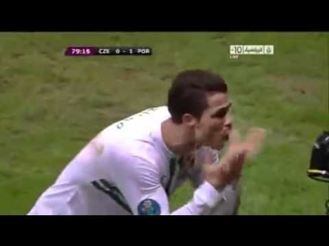 هدف رونالدو فى مرمى التشيك يورو 2012