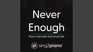 Sing2piano Never Enough Originally Performed By Loren Allred From The Greatest