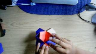 How To Make A Origami Truncated Stellated Octahedron ( Trust Me It Looks Cool)