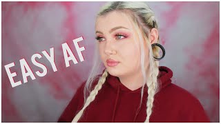 how to do FAKE french braids