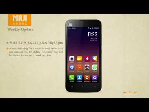 MIUI ROM 3.6.14 Update Highlights