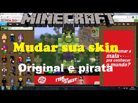 Tutorial: Como mudar a skin do Minecraft(Original/Pirata) (funciona em server pirata)