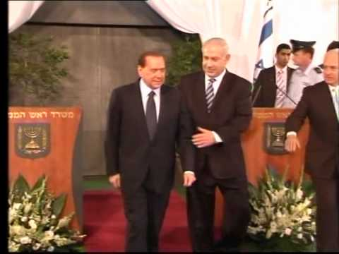 Warm welcome for Italy's Berlusconi in Israel