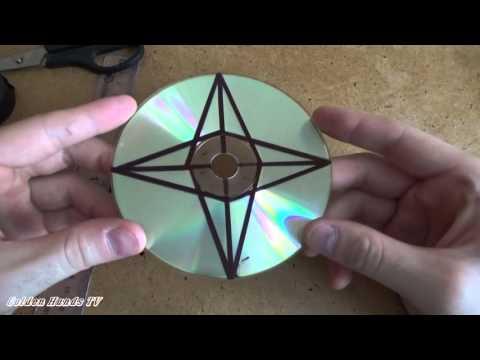 Как из дисков сделать сюрикен из