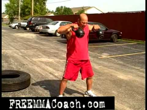 MMA Training Video - Crazy Tire Flip Kettlebell Routine Image 1
