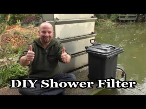 DIY Wheelie Bin Koi Shower Filter (great for healthy water in a fish pond)
