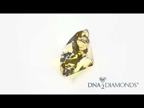 DNA2Diamonds Created Diamonds - Yellow Green