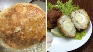 Egg,Rice balls recipe | Egg balls fried | Deep fried rice balls