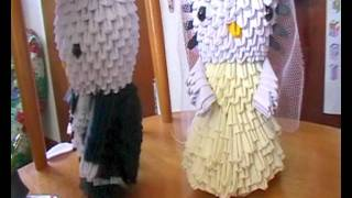 I Made A 3d Origami Hellokitty Bride & Groom!