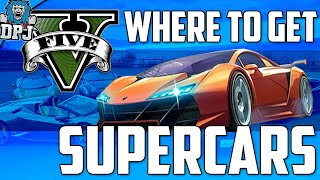 """GTAV"" Location For Supercars - Bugatti's, Lamborghini's, Ferrari's & More (GTA5 Secrets)"
