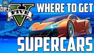 """""""GTAV"""" Location For Supercars - Bugatti's, Lamborghini's, Ferrari's & More (GTA5 Secrets)"""