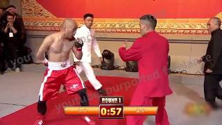 Võ sĩ boxing dùng 1 tay hạ võ sư võ cổ truyền Trung Quốc