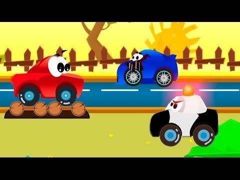 Мультик игра про машинку Висти. Играем в гонки и и смотрим мультфильм.