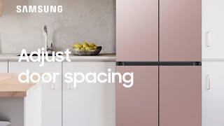 01. How to adjust the upper spacing of your BESPOKE Refrigerator door | Samsung US