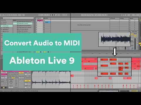 Convert Audio to MIDI in Ableton Live 9