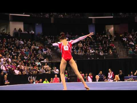 Kyla Ross - Floor Exercise Finals (3rd place) - 2012 Kellogg&#039;s Pacific Rim Championships